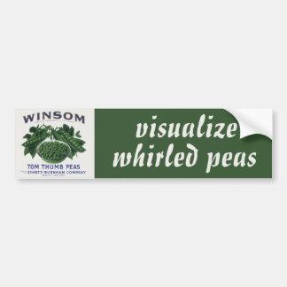 La etiqueta vegetal del vintage visualiza los pegatina para coche