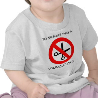 La evasión fiscal es traición camisetas
