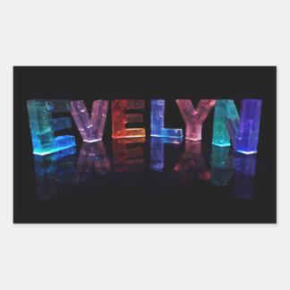 La Evelyn conocida en 3D se enciende (la Rectangular Pegatinas