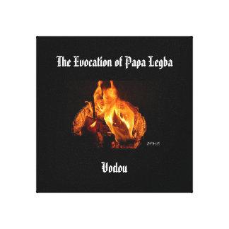 La evocación de la papá Legba- en lona Impresión En Lienzo Estirada