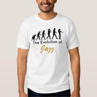 La evolución de, jazz remeras