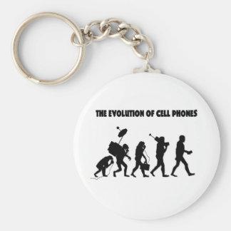 La evolución de los teléfonos celulares llavero redondo tipo pin