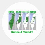 La evolución de Palestina Pegatinas Redondas