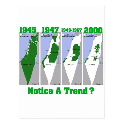 La evolución de Palestina Postales