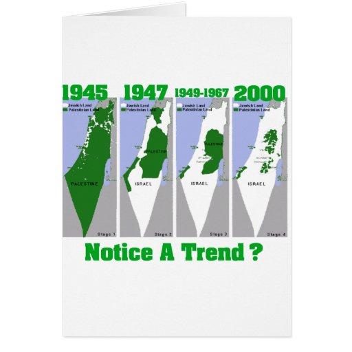 La evolución de Palestina Tarjeta De Felicitación