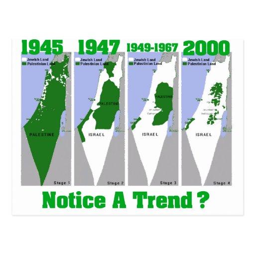 La evolución de Palestina Tarjeta Postal