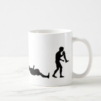 La evolución de zombis taza de café