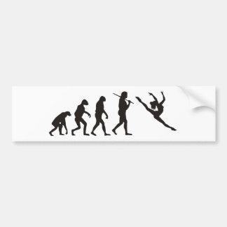 La evolución del bailarín pegatina para auto