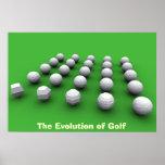 La evolución del golf posters