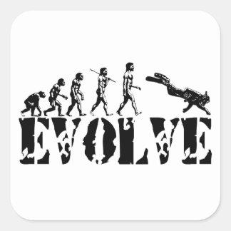 La evolución del salto del buceador se divierte ar pegatina