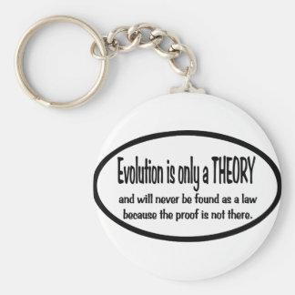 La evolución es solamente una teoría llaveros personalizados