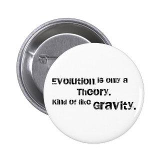 La evolución es solamente una teoría pin