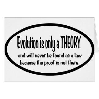 La evolución es solamente una teoría felicitaciones