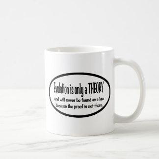La evolución es solamente una teoría tazas de café