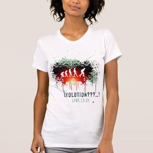 La evolución/guarda a la izquierda camiseta