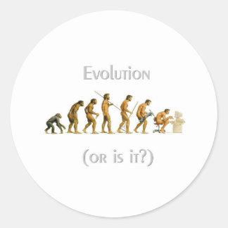 La evolución o es él pegatina
