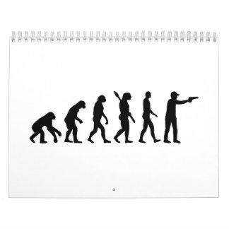 La evolución se divierte el tiroteo calendario de pared
