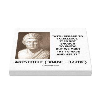 La excelencia de Aristóteles no bastantes Know Impresiones De Lienzo