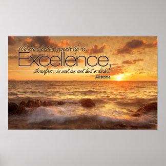 La excelencia es impresión inspirada del poster