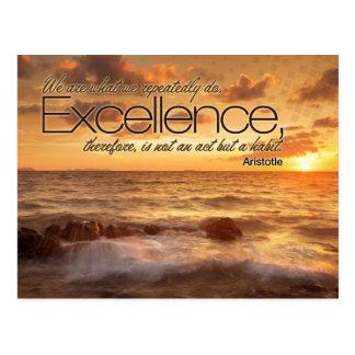 La excelencia es postal inspirada del hábito