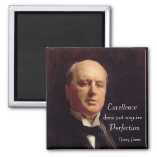La excelencia no requiere la perfección imán cuadrado