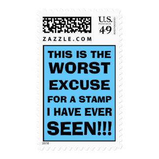 la excusa peor para un sello