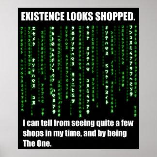La existencia parece hecha compras impresiones