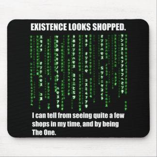 La existencia parece hecha compras tapete de ratón