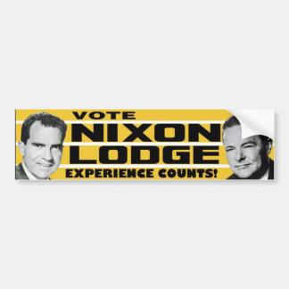 La experiencia 1960 de la casa de campo de Nixon c Pegatina De Parachoque