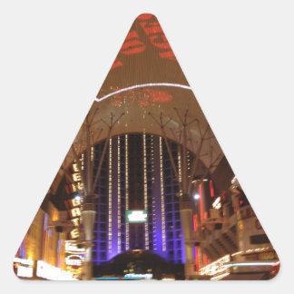 La experiencia de la calle de Fremont - Las Vegas Pegatina Triangular