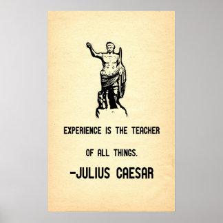 La experiencia de la cita de Julio César es el pro Póster