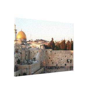 La Explanada de las Mezquitas en Jerusalén Impresión En Lona Estirada