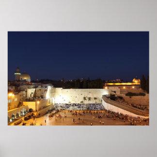 La Explanada de las Mezquitas en Jerusalén, Israel Póster