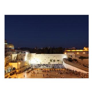 La Explanada de las Mezquitas en Jerusalén, Israel Tarjeta Postal