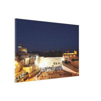 La Explanada de las Mezquitas en Jerusalén Lona Estirada Galerías