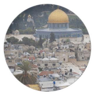 La Explanada de las Mezquitas y bóveda de la roca Plato Para Fiesta