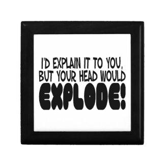 La explicación haría que la cabeza estalla joyero cuadrado pequeño