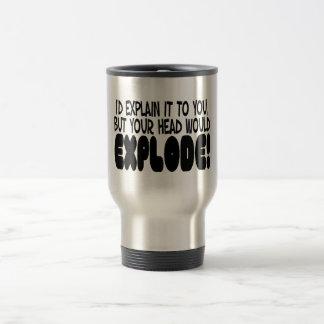 La explicación haría que la cabeza estalla taza de café
