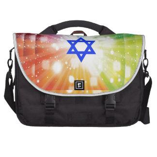La explosión judía de luces bolsas para portatil