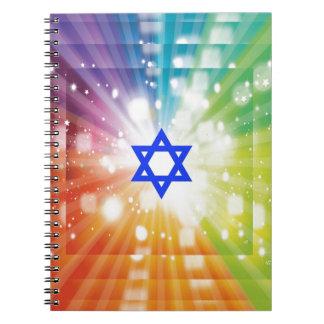 La explosión judía de luces cuadernos