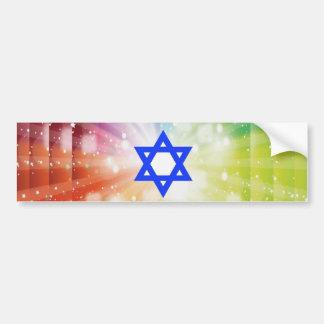 La explosión judía de luces pegatina para auto
