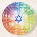 La explosión judía de luces posavasos para bebidas