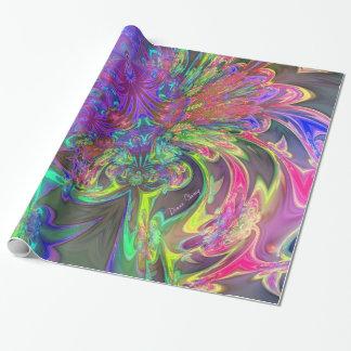 La explosión que brilla intensamente del color, papel de regalo