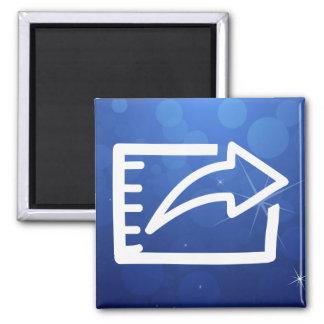 La exportación archiva el pictograma imán cuadrado