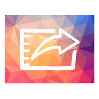La exportación archiva el pictograma postal