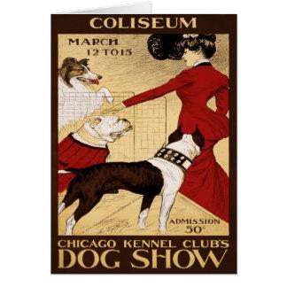La exposición canina 1902 del club de la perrera d tarjetón