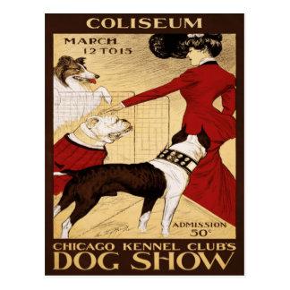 La exposición canina 1902 del club de la perrera d tarjetas postales
