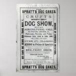 La exposición canina de Cruft de la publicidad de  Posters