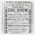La exposición canina de Cruft de la publicidad de Pegatinas Cuadradas