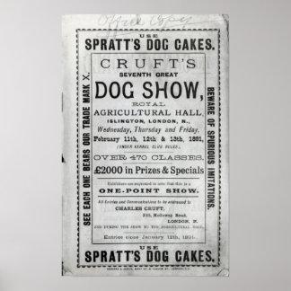 La exposición canina de Cruft de la publicidad de  Póster